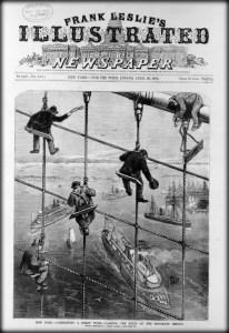 Frank Leslie's Illustrated_Newspaper-Brooklyn Bridge. Image: Wikipedia.
