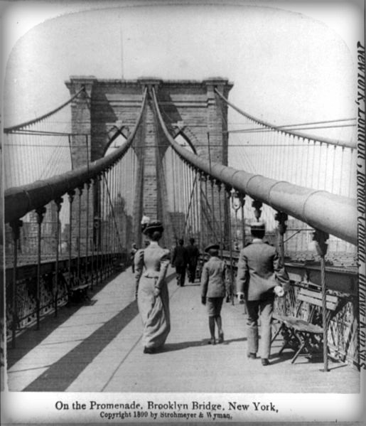 Brooklyn Bridge, 1899. Image: Library of Congress.