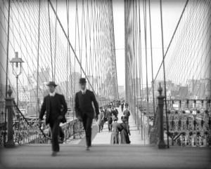 Brooklyn Bridge, c. 1905. Image: Library of Congress.
