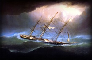 Flying Cloud off Cape Horn by James E. Buttersworth. Image: Wikipedia.
