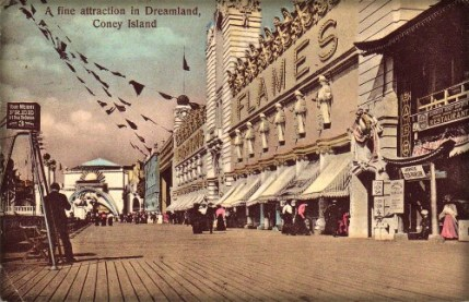 Coney Island Dreamland: Fighting The Flames. Image: Library of Congress.