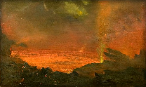 David Howard Hitchcock, Halemaumau-Lake of Fire-1888. Image: Wikipedia.