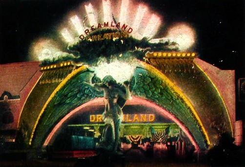 Coney Island Dreamland: Entrance. Image: Wikipedia.
