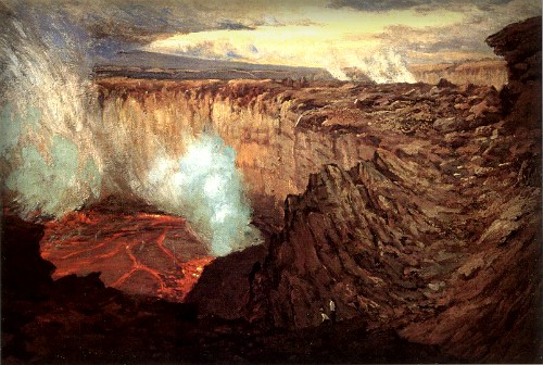Ernst Williams Christmas, Kilauea Caldera, 1916-18. Image: Wikipedia.