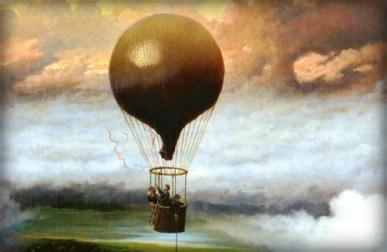 A Balloon in Mid-Air Jules Tavernier - 1875.