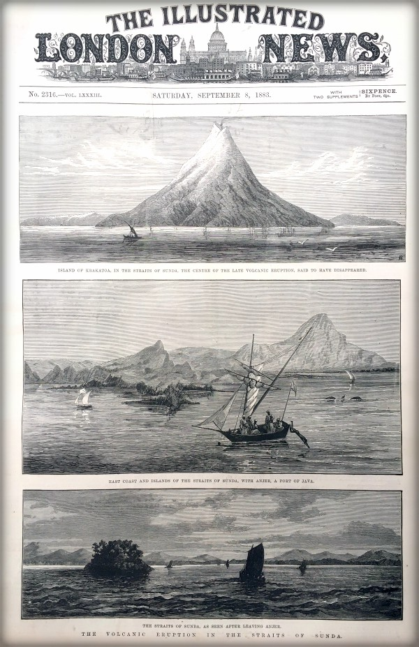 Victorian Era Krakatoa Eruption: Illustrated London News, Sept. 8, 1883. Image: Illustrated London News.org.