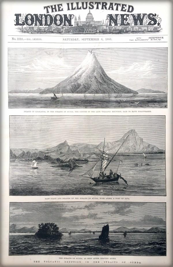 Victorian Era Krakatoa Eruption: Illustrated London News, Sept. 8, 1883. Image: Illustrated London News.org.