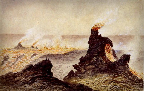 Volcano School Painters: Constance Gordon-Cumming, Temporary Chimneys and Fire Fountains, 1879. Image: Wikimedia.