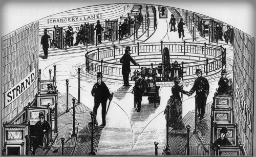 Columbian Exposition, Moving Sidewalk. Image: Wikipedia.