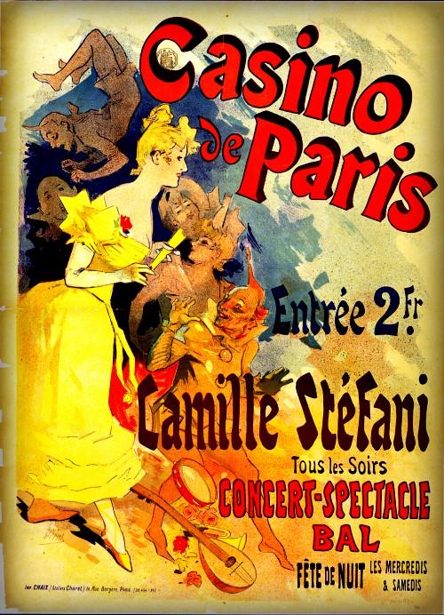 Jules Chéret Cherettes; Casino de Paris. Image: Wikipedia.Jules Chéret Style; Casino de Paris. Image: Wikipedia.