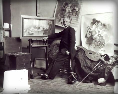 Jules Chéret Portrait by Dornac. Image: Wikipedia.