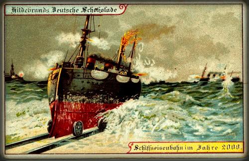 Futuristic Victorian Postcards : Land Boat. Image: Wikipedia.