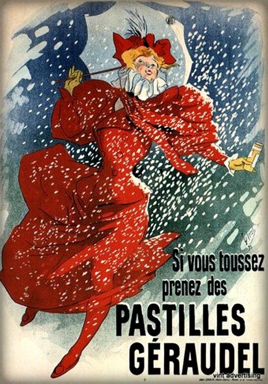 Jules Chéret Chérettes-Pastille Geraudel. Image: Wikipedia.