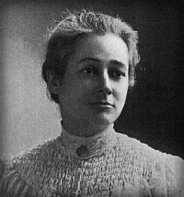 bust up black and white head shot of Florence Merriam Bailey in 1904