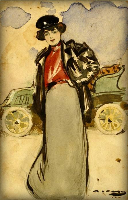 Una automobilista - ramon casas y carbo 1900. Image: Wikipedia.
