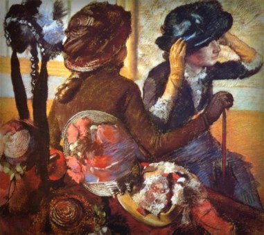At The Milliners 1882, Edgar Degas. Image: Wikimedia.