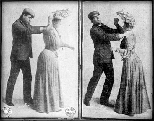 Dangerous Victorian Hatpins: San Francisco Sunday Call, 1904. Image: Wikipedia.