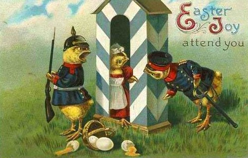 Easter Chicks In Guard House. Image: Public Domain.