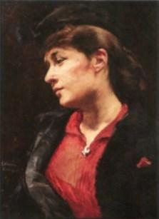 Elizabeth Nourse, Portrait of a Lady-1888. Image: Wikipedia.
