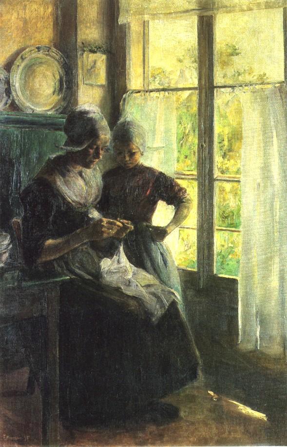 Elizabeth Nourse, Sewing Lesson, 1895. Image: Wikipedia.