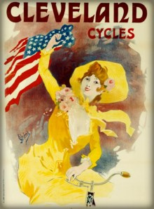 Affiche Cycles Cleveland by Jules Cheret. Image: Wikipedia.