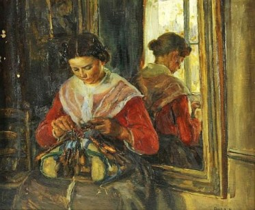 Social Realism: The Lacemaker, c. 1895. Image: Wikipedia.