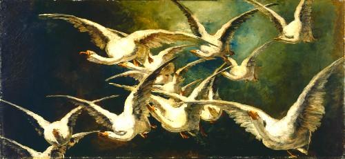 Elizabeth Nourse, Flock of Geese. Image: Wikipedia.