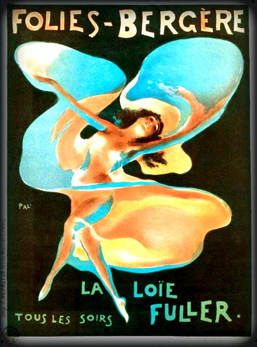 Folies Bergère Poster of Loie of Fuller. Image: Wikipedia.