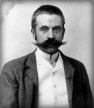Black and white photograph of Stanford White by George Cox, 1892. Image: Wikipedia.