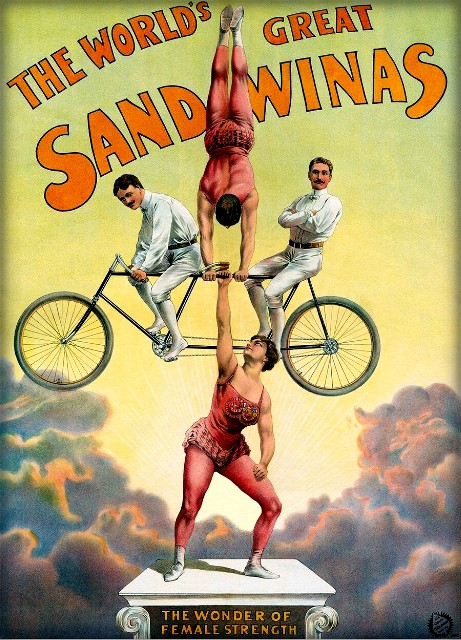 Sandwina Circus Poster. Image: laughingravy21 on ebay.