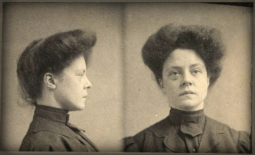 Catherine O'Neill, Pinkerton mug shot. Image: Library of Congress.