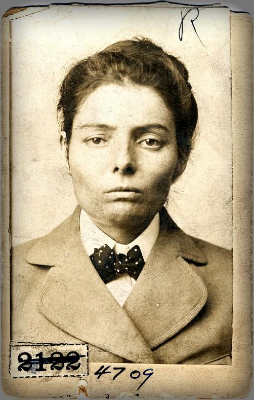 Laura Bullion of the Wild Bunch_gang: Pinkerton's Mug Shot, 1893. Image: Library of Congress.