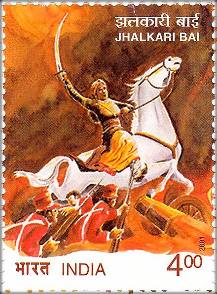 2-Jhalkaribai_2001_stamp_of_India
