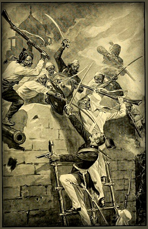 The Stroming of Jhansi. Lieutenant by Edward Gilliat. Image: Wikipedia.