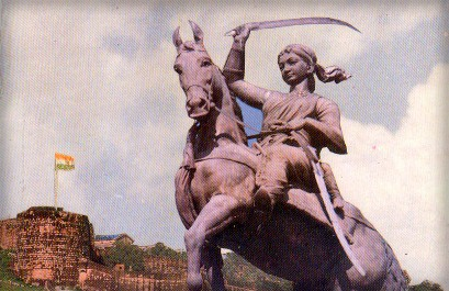 Rani Lakshmibai's statue. Image: Wikipedia.