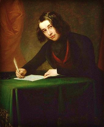 Charles Dickens, 1842 by Francis Alexander. Image: Wikipedia.