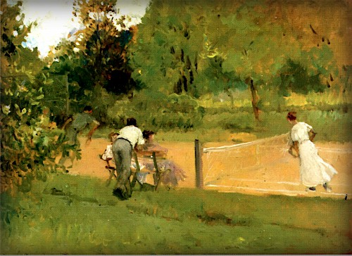Tennis Match by Francis Luis Mora. Image: Wikipedia.