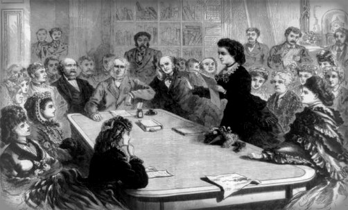 Victoria Woodhull Addresses Congress, 1871. Image: Wikipedia.