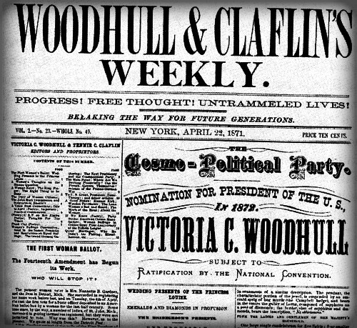 Woodhull and Claflin's Weekly, April 1871. Image: Wikipedia.