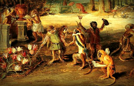 Jan Brueghel the Younger, Satire on Tulip Mania, 1640. Image: Wikipedia.