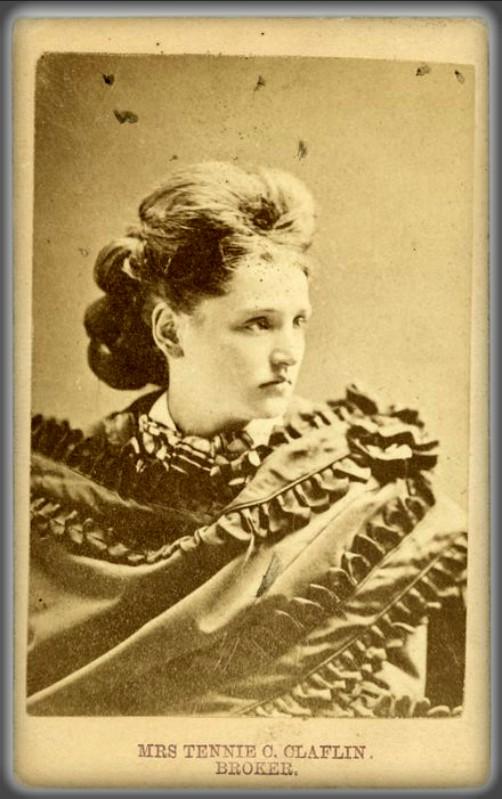 Tennessee Celeste Claflin, Cabinet Card. Image: Wikipedia.