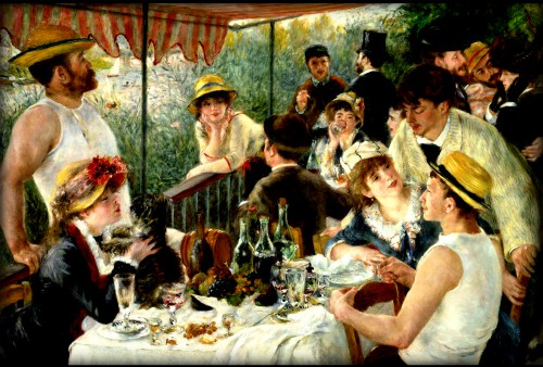 Luncheon of the Boating Party, 1881 by Renoir.Image: Wikipedia.