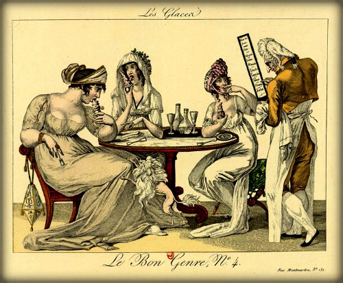 Noble Women Eating Ice Cream, 1801. Image: Wikipedia.