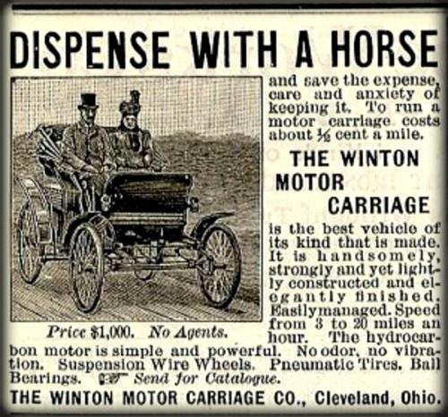Winton Ad., 1898 Image: Wikipedia.