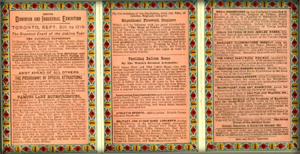 Industrial Exposition Program, 1887. Image: CNE Heritage.com.-