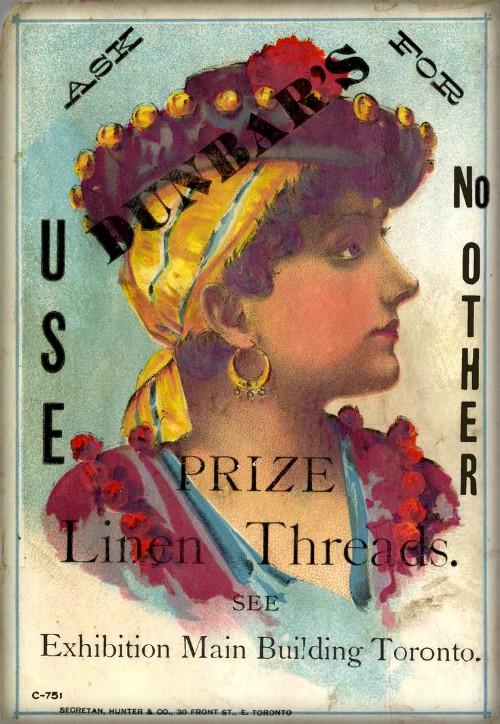 Dunbar Linen Threads Trade Card, 1890. Image: Wikipedia.