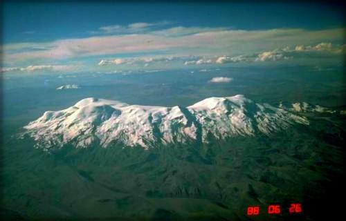 Snow-capped Mountain Coropuna she climbed in Peru in 1901.
