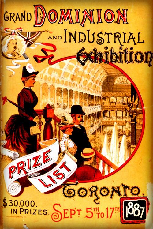 Prize List, 1887. Image: CNE Heritage.com.