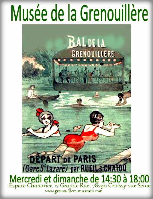 Musee Grenouillere Bal poster. Image: Museum of Grenouillere.