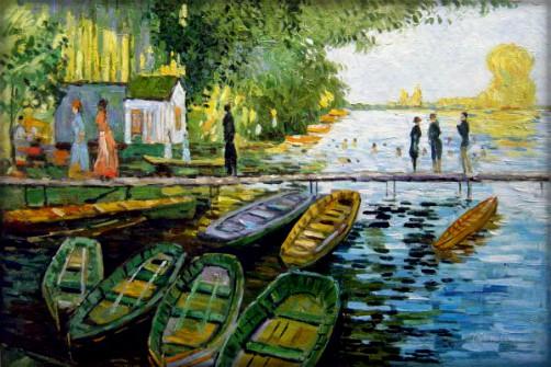 Claude Monet, Bain à la Grenouillère, 1869. Image: Athenaeum.org.